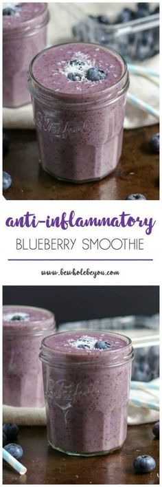 Anti-Inflammatory Blueberry Smoothie Blendtec blendtec Smoothies Fight inflammation in the most delicious way! This blueberry smoothie is packed with ingredients that help your body naturally fight inflammation. And it also has a nice spicy kick you Smoothies Healthy Weightloss, Easy Smoothies, Breakfast Smoothies, Healthy Drinks, Vegetarian Smoothies, Paleo Breakfast, Healthy Eating, Yummy Drinks, Breakfast Ideas