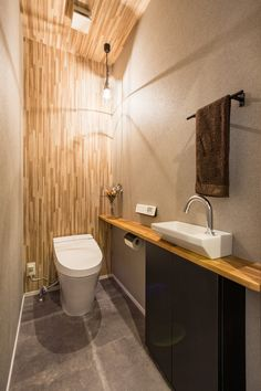 Toilet Room Decor, Small Toilet Room, Guest Toilet, Wc Design, Toilet Design, House Design, Japanese Home Design, Japanese House, Cheap Toilets