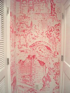 Lily Pulitzer Toile. Would love this in a dressing room or walk in closet