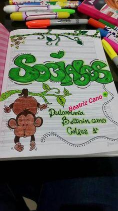 Decorate Notebook, Diy Notebook, Notebook Covers, Fancy Envelopes, Diy Agenda, Light Bulb Art, Page Decoration, School Notebooks, School Decorations