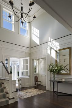 Love all the white woodwork.