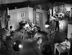 School of Photography – unidentified  students in photo studio, Downtown  campus.