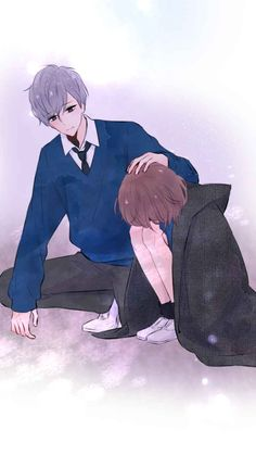Trust is like an eraser.It gets smaller and smaller after every mistake you make. Manga Couple, Anime Love Couple, Couple Cartoon, Anime Triste, Anime Art Girl, Anime Guys, Manga Anime, Romantic Anime Couples, Cute Anime Couples
