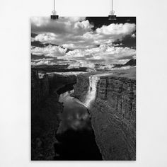Spotty Skies - Colorado River Arizona Fine Art Landscape Photography Print Black And White. Photograph: Monochrome Black and White Digital Infrared Print Type: Acid Free Gallery / Museum Archival Quality Finish Type: Luster / Semi-Gloss Sizes Available (inches): 7x10, 9x12, 10x14, 12.5x17, 15x20, 16x22 .