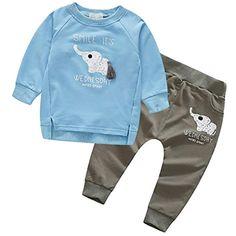 ea49502852e0c Brightup Bébé Garçons et Filles Vêtements Ensemble Hiver Chaud Sweat-Shirt  et Pantalon  ensembleschutz