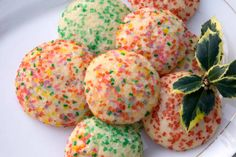 Soft Sugar Cookies. These soft sugar cookies are a terrific alternative to rolled cookies for Christmas or any time you want to bake with the kids. There's no cutting required, and these cookies positively melt in your mouth.