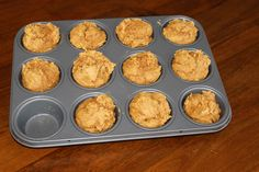 Two ingredient pumpkin muffins. Just a can of pumpkin and a box of cake mix. Tastes so good and is so easy!