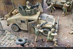 High Mobility Multipurpose Wheeled Vehicle (HMMWV) - Humvee 1/35 Scale Model Diorama