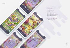 Casual style puzzle game UI on Behance Game Ui, Game Design, Ux Design, Maine, Puzzle, Concept, Behance, 2d Art, Creative