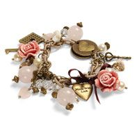 Inspired by Romance. Stacy made this bracelet using a variety of charms and beads. All beads are available to purchase to Beads Direct