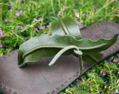 Handmade Leather Sandals Women and Men***Seaweed design***