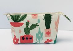 Cacti Cactus Succulents Essential Oil Pouch Bag- Makeup Bag, Zippered Pouch, Toiletry Bag, Cosmetic, Coin Purse, Zippered Bag Tampon by TangerinesAndThyme on Etsy https://www.etsy.com/ca/listing/532057325/cacti-cactus-succulents-essential-oil