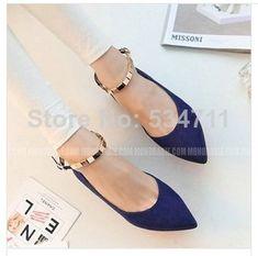 Envío gratis 2014 de primavera y otoño de poca profundidad plana- bottomed zapatos bajos- zapatos de tacón calzado de mujer de moda los zapatos planos 35-39