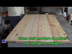 Descubre cómo unir diferentes tablas de palets con tarugos y consigue fantásticos proyectos: mesas, muebles...