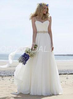 modabridal.co.uk SUPPLIES Tailormade Beach  Misses Spring Beading A-line Summer Floor-Length 30D  Wedding Dress Beach Wedding Dresses