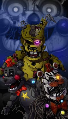 I always thought the Fruity Maze scene with Spring Bonnie in the background was one of the most unsettling things in the whole game, so I made a little . Five Nights At Freddy's, Fnaf Sl, Labyrinth, Fnaf Wallpapers, Fnaf Sister Location, Fnaf Characters, Freddy Fazbear, Fnaf Drawings, Anime Fnaf