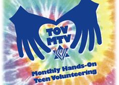 TOV MTV TOV MTV – Monthly Hands-On Teen Volunteering   Every month, TOV MTV gives Jewish teens a chance to make the world a little better. Whether you want to help the environment, brighten a senior's day, fight hunger and poverty, or lend a hand to people with disabilities, there's an opportunity waiting for you.   MTV is for Chicago-area Jewish teens, grades 6-12.