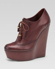 Gucci Lace-Up Wedge Bootie........ABSOLUTE LOVE!