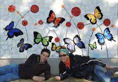 Resultado de imagen para pinterest mosaicos mariposas