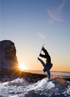 snowboarding (: