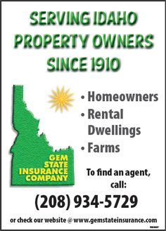 Gem State Insurance Company was originally organized by the Idaho State Grange in 1910 to provide property insurance to the members of that organization. Insurance coverage for eligible property is not restricted to Grange members.