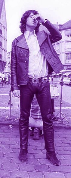 Jim Morrison rocked the leather like no other before or since.  What a nice long shot....
