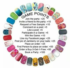 Host a Jamberry party and win free wraps! Jamberry Tips, Jamberry Nails Consultant, Jamberry Nail Wraps, Jamberry Style, Jamberry Party Games, Avon, Jamberry Business, Party Points, Pointed Nails