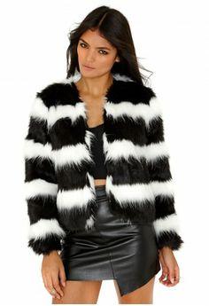 Missguided - Reata Monochrome Faux Fur Jacket - $111.50