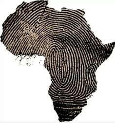 Africa, a fingerprint. I would get this for a tattoo except it would be Italy not Africa Black Art, Adn Tattoo, Tattoo Art, Afrika Festival, Afrika Tattoos, Tattoos Of Africa, Cool Tattoos, Tatoos, Mens Tattoos