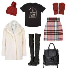 It's getting colder. How cute is this outfit grid we put together. be on trend with Drop Dead.  Knee high boots all the way.  http://www.dropdead.co/collections/guys-t-shirts-vests/products/holiday-t-shirt