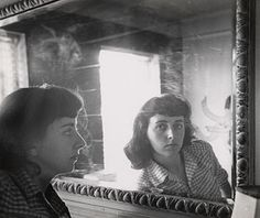 Esther Bubley (1921 – 1998) was an American photographer who specialized in expressive photos of ordinary people in everyday lives. Photo: Esther Bubley, self-portrait c. 1950