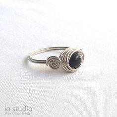 Diy Stone Rings, Diy Rings, Wire Jewelry Designs, Jewelry Ideas, Diy Jewelry, Jewlery, Handmade Rings, Handmade Jewelry, How To Make Rings