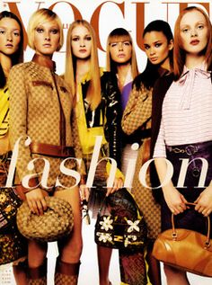 Audrey Marnay, Maggie Rizer, Danita Angell, Ana Claudia Michels, Caroline Ribeiro, Karen Elson/Vogue Italia January 2000 By steven Meisel