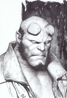 Hellboy by Adi Granov Comic Art
