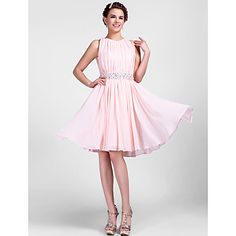 A-line Jewel Knee-length Chiffon Cocktail Dress  – USD $ 127.39    Probably one of the prettiest ones ive seen