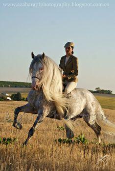 Ana Cristina Guerra and Educado, PRE horse.