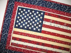 Americana Wall Hanging or Table Topper by PicketFenceFabric, $18.95