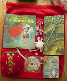 The red ripe strawberry story sack compiled by me Handas Surprise, Story Sack, Telling Stories, Retelling, Sacks, Kids Playing, Storytelling, Baskets, Strawberry