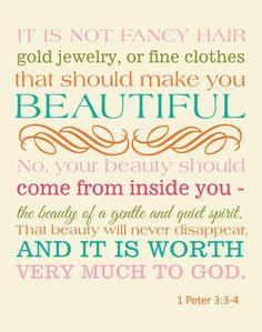 Beauty...1 Peter 3:3-4