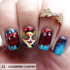 Lacquered Lawyer | Nail Art Blog: La Muerte