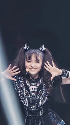 Baby Metal, Female Fox, Moa Kikuchi, Metallic Wallpaper, Gothic Rock, Post Punk, Glam Rock, Visual Kei, Androgynous