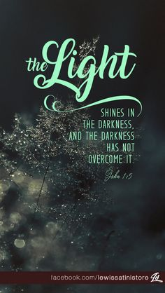 The light shines in the darkness, and the darkness has not overcome it.  -John 1:5  Postcard available at https://www.zazzle.com/john_1_5_the_light_postcard-239710666512501923  #Christmas #light #darkness #overcome #John #Jesus #Christ