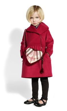 burberry kids does it again - perfect Valentine style