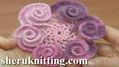 How to Crochet Spiral Petal Flower Step-by-Step