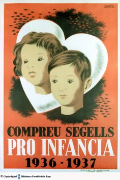 """""""Compreu segells pro infància, Courtesy of the University of Barcelona University Rankings, World University, Effects Of Testosterone, Campaign Posters, Party Poster, Children Images, Find Picture, Stretched Canvas Prints, Vintage Posters"""
