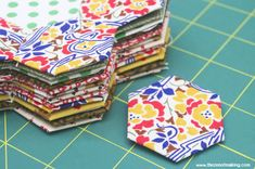 "Got fabric scraps? Get quilting! Jumpstart your hexie obsession with my free 1"" hexagon template and part one in my English paper piecing tutorial series!"