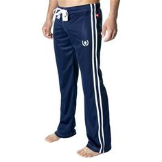 Varsity Training Pant with Silver Embroidery by Andrew Christian in Navy