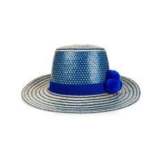 YOSUZI Irunu straw hat ($225) ❤ liked on Polyvore