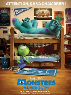 other poster of Monsters University. Monsters University(c) Pixar Animation Studios and Walt Disney Pictures. Disney Pixar, Disney Monsters, Monsters Inc, Disney Films, Walt Disney, Disney Magic, Star Monsters, Best Kid Movies, Family Movies