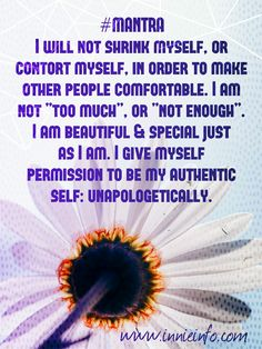 "The third #meme in my ""Affirmations & Mantras"" series focuses on #selflove #selfacceptance and being #unapologetically you!  The thing is, there will always be #judgemental #haters out there. Someone..."